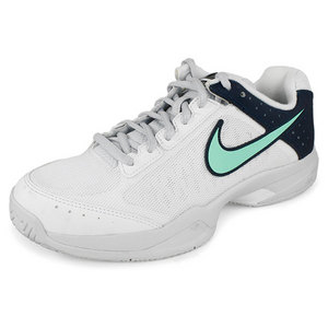 NIKE WOMENS AIR CAGE COURT TENNIS SHOES WH/NV