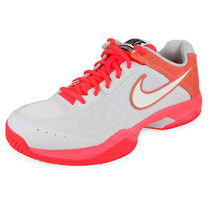 NIKE WOMENS AIR CAGE COURT TENNIS SHOES PK/GY