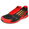 Men`s Adizero Feather II Synthetic Tennis Shoes Black and Red by ADIDAS