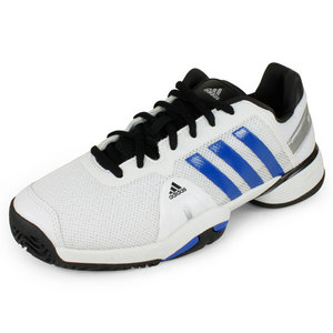 adidas JUNIORS ADIPOWER BARRICADE 8 SHOES WH/BL