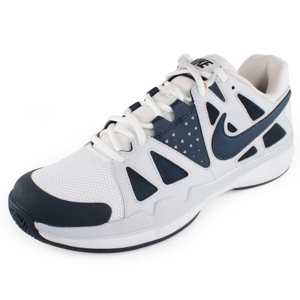 Men's Air Vapor Advantage Tennis Shoes Navy And Gray