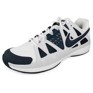 Men`s Air Vapor Advantage Tennis Shoes Navy and Gray