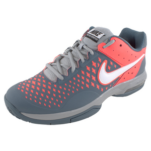 NIKE MENS AIR CAGE ADVANTAGE SHOES SLATE/RD
