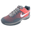 Men`s Air Cage Advantage Tennis Shoes Gray and Red by NIKE