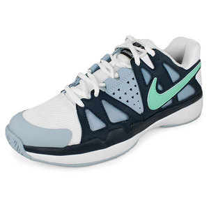 NIKE WOMENS AIR VAPOR ADVANTAGE SHOES WH/NAVY
