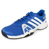 Men`s Adipower Barricade Team 3 Tennis Shoes Blue and White by ADIDAS