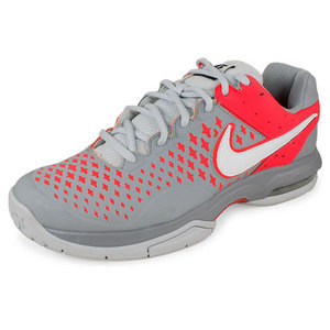 NIKE WOMENS AIR CAGE ADVANTAGE SHOES GY/RED