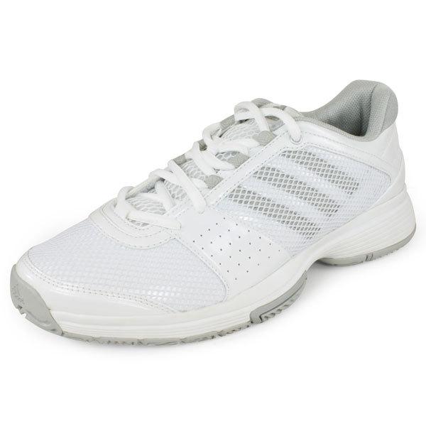 Adidas Barricade 6.0 Adilibria Women's Tennis Shoes (White/Silver/Blue