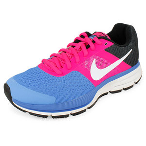 Girls` Air Pegasus+ 30 Running Shoes Blue and Pink