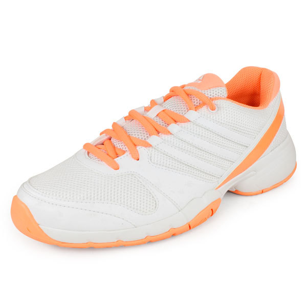 Women's Bercuda 3 Tennis Shoes White And Orange