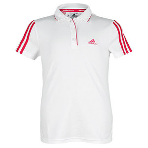 adidas GIRLS RESPONSE TRADITIONAL POLO WHITE