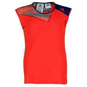adidas GIRLS ADIZERO CAP SLEEVE HI-RES RED