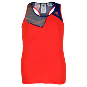 adidas GIRLS ADIZERO TENNIS TANK HI-RES RED
