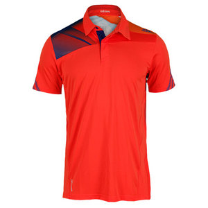 adidas MENS ADIZERO TENNIS POLO HI-RES RED