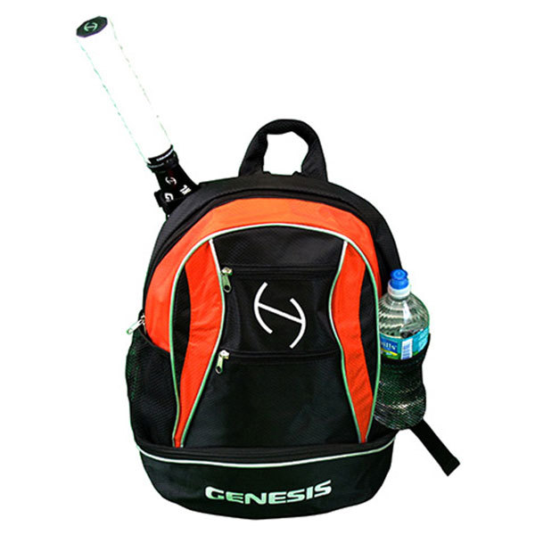 Tour Tennis Backpack Black And Orange