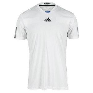 adidas MENS ADIPOWER BARRICADE CREW TEE WHITE