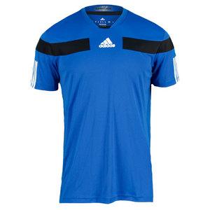 adidas MENS ADIPOWER BARRICADE CREW TEE BLUE