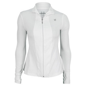 ELEVEN WOMENS LOVE GAME TENNIS JACKET WHITE
