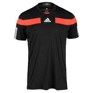 adidas MENS ADIPOWER BARRICADE CREW TEE BLACK