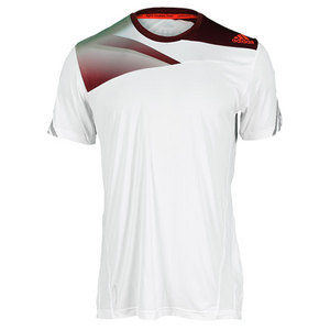 adidas MENS ADIZERO PLUS TENNIS TEE WHITE
