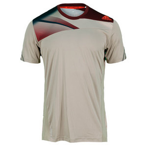 adidas MENS ADIZERO PLUS TENNIS TEE TECH BEIGE