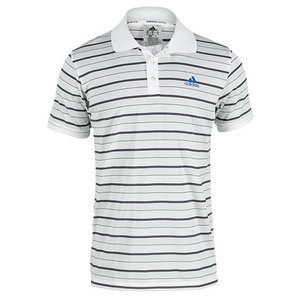 adidas MENS TS STRIPY POLO WHITE