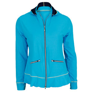 SOFIBELLA WOMENS VERSE TENNIS JACKET HORIZON BLU