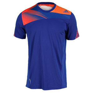 adidas MENS ADIZERO TENNIS TEE HERO INK