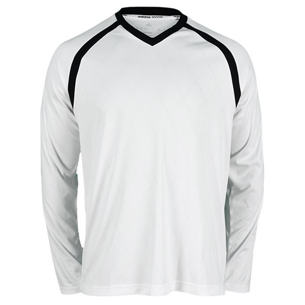 Men's Tennis Sequencials Engineered Long Sleeve Tee White