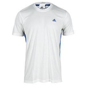 adidas MENS TS GALAXY TEE WHITE/BLUE BEAUTY