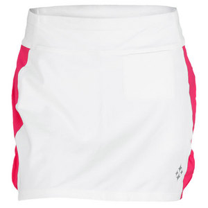 JOFIT WOMENS MOROCCO BLOCKED SKORT WHITE/RASP