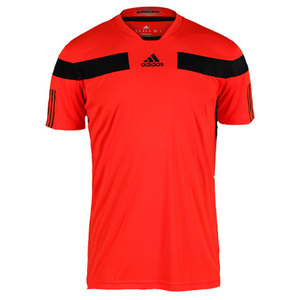 adidas MENS ADIPOWER BARRICADE CREW TEE RED