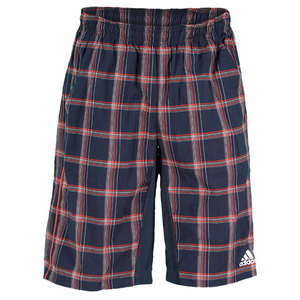 adidas MENS TS PLAID BERMUDA SHORT NIGHT SHADE