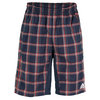 ADIDAS Men`s Tennis Sequencials Plaid Bermuda Short Night Shade/Hi-Res Red