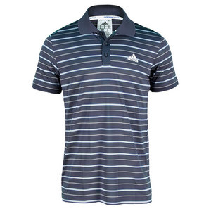 adidas MENS TS STRIPY POLO URBAN SKY
