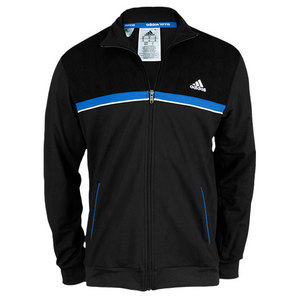 adidas MENS TS COLORBLOCK WARM UP TOP BLACK