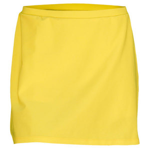 ELIZA AUDLEY WOMENS BASIC A-LINE TENNIS SKORT YELLOW