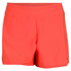 ELIZA AUDLEY WOMENS BASIC SHORTS CORAL