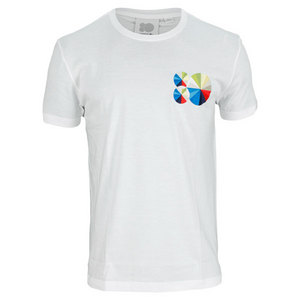 LACOSTE MENS 80TH ANNIVERSARY COLORWHEEL TEE WH