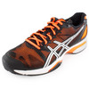 Men`s Gel Solution Speed Clay Court Tennis Shoes Black and Orange by ASICS