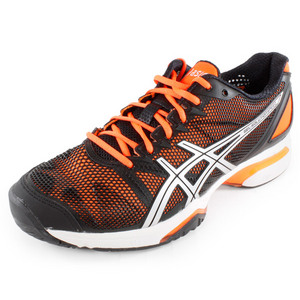 ASICS MENS GEL SOLUTION SPEED SHOES BLK/ORANGE