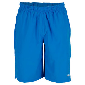 WILSON MENS BASIC WOVEN TENNIS SHORT POOL