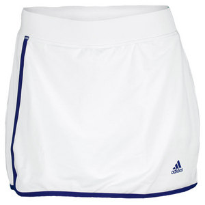 adidas WOMENS TS GALAXY SKORT 3 WH/HERO INK