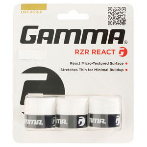GAMMA RZR REACT 3 PACK TENNIS OVERGRIP