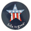 LIFE IS GOOD Patriotic Star 4 Inch Sticker
