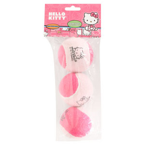 HELLO KITTY PRESSURELESS PRACTICE TENNIS BALLS 3 PK