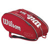 WILSON Federer Limited Edition 15 Pack Tennis Bag Red