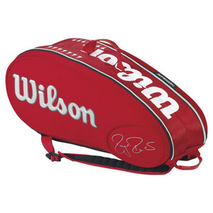 WILSON FEDERER LE 9 PACK TENNIS BAG RED