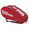 WILSON Federer Limited Edition 9 Pack Tennis Bag Red