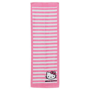 HELLO KITTY 13 INCH X 32 INCH STRIPE TENNIS TOWEL
